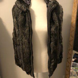 Women's Medium Gray fur Jacket